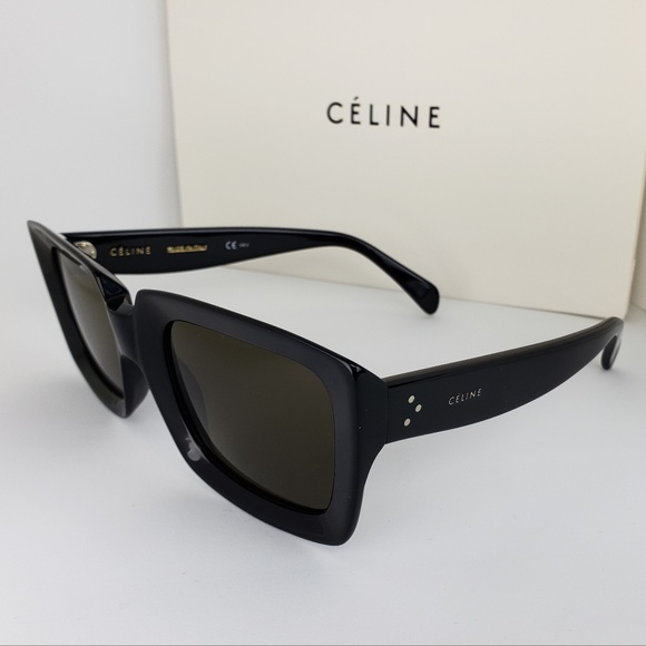 f6879e1f8b31 Celine Accessories | Sunglasses Black Square Frame Gray Lens | Poshmark